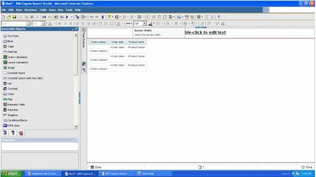IBM cognos report studio 2