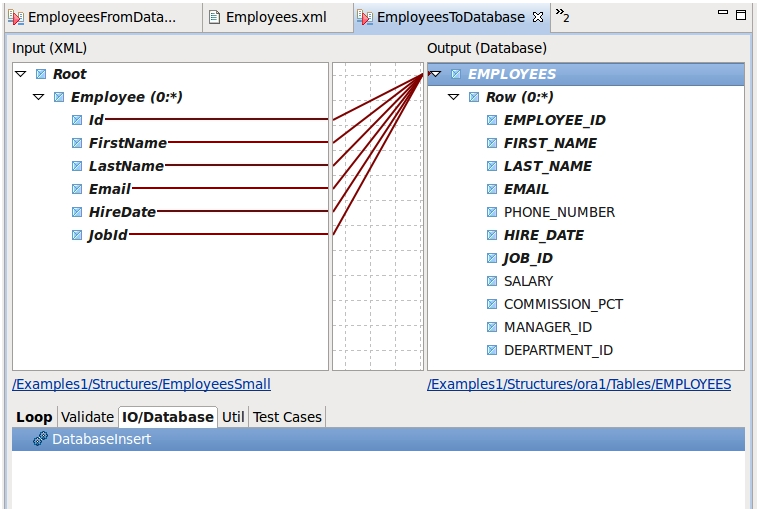 Writing to a database table