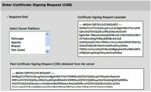 Certificate Signing Request