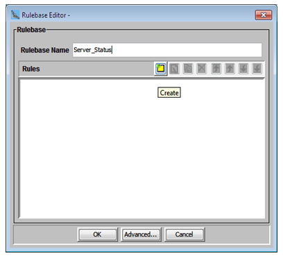 Create a Rulebase for monitoring middleware component here server