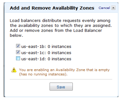 Add and Remove Availability Zones
