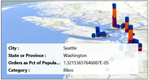 A ScreenTip in Power Map