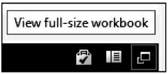 Workbook status