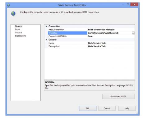Web Service Task Editor