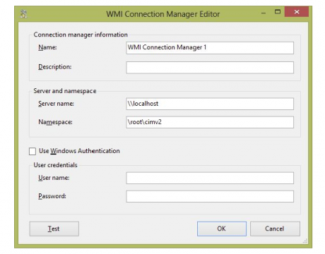 WMI Connection Manager Editor