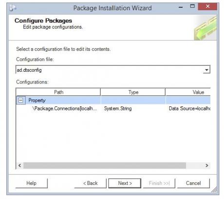 package installation wizard
