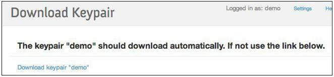 Download Keypair