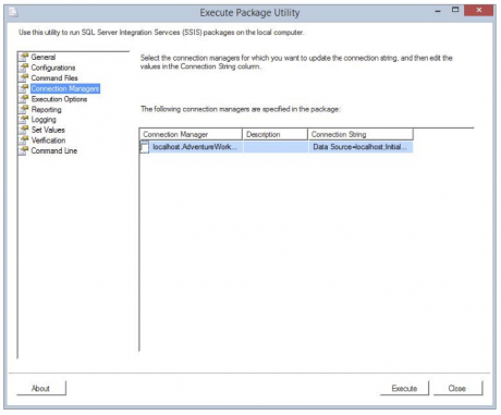 Enable Package Checkpoints option