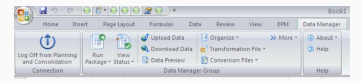 Data Manager Ribbon for BPC Excel Add-In
