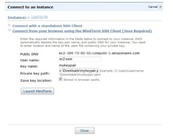 connect to instance