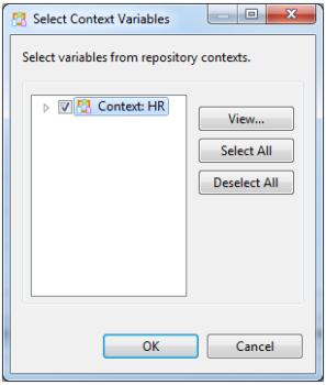 Context variable selection