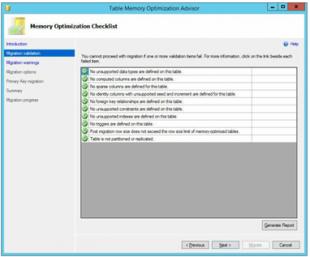 Memory Optimization Advisor