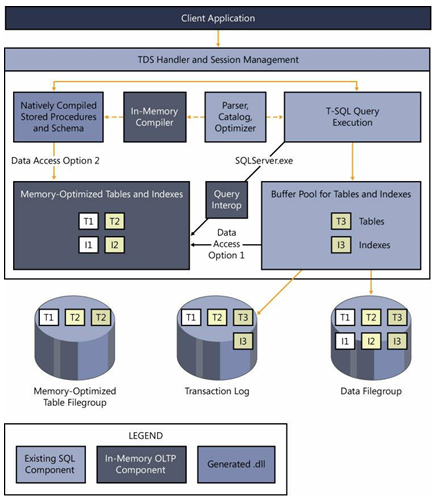 Client application process based on memory-optimized table