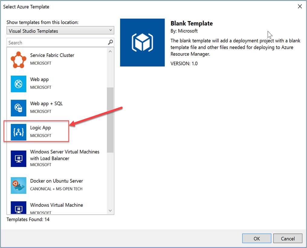 Select Azure Template