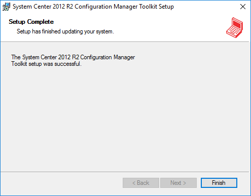 System Center 2012 R2 Configuration Manager Toolkit SetUp