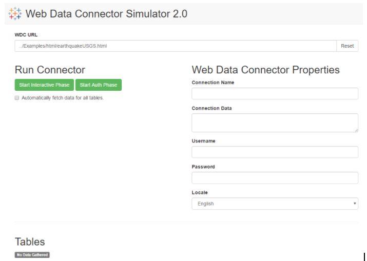 Web Data Connector