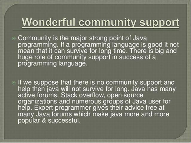 Wonderful community support