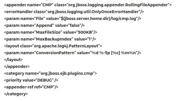 Change in level in JBoss server