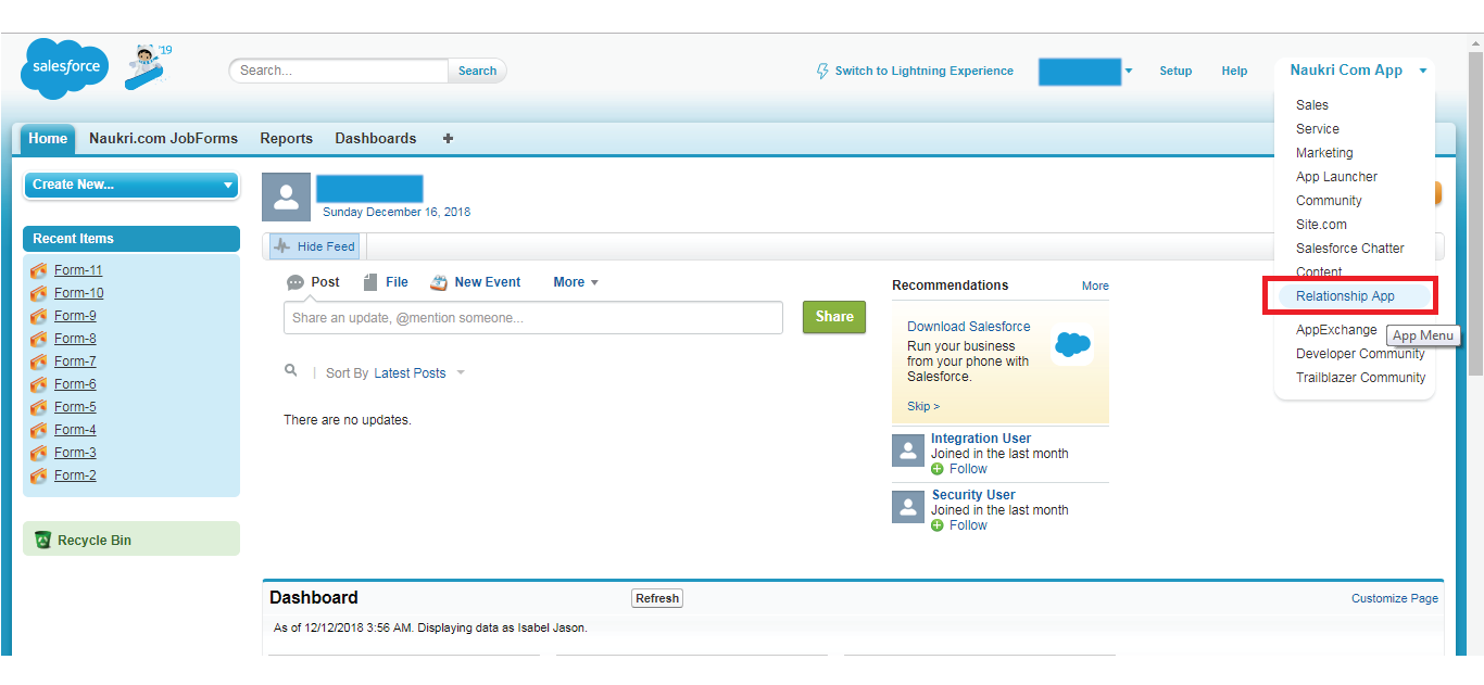create a Relationship Field- Salesforce