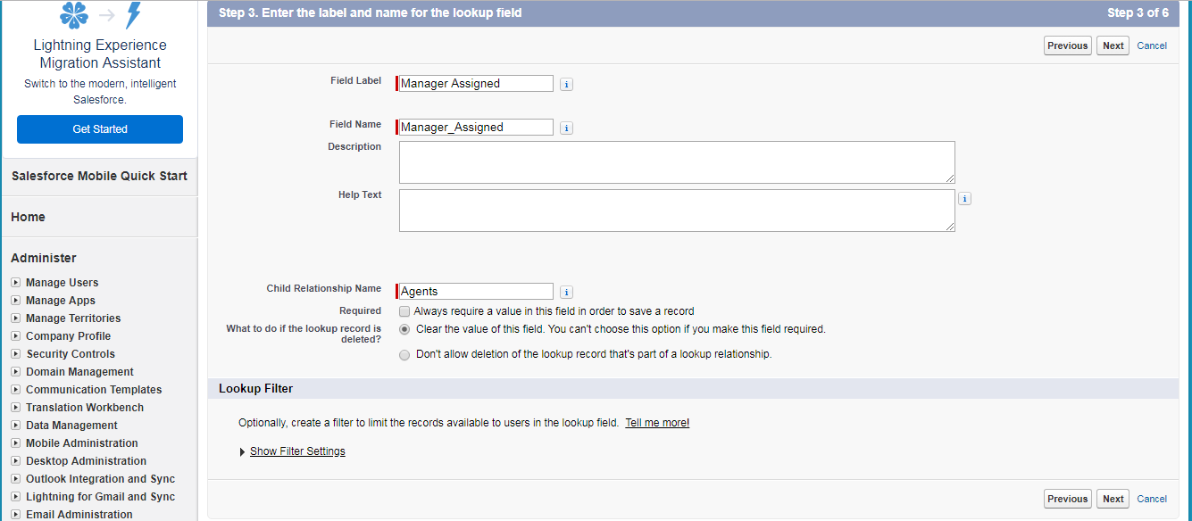 create a Relationship Field - salesforce