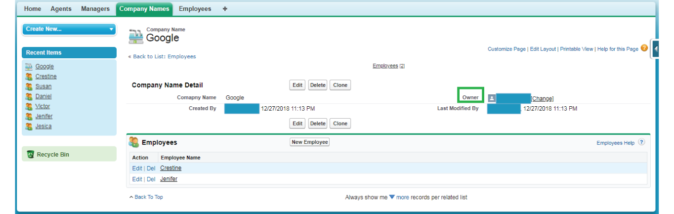 Master Detail Relationship in salesforce