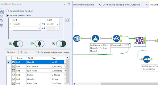 Alteryx features- Consolidating Data