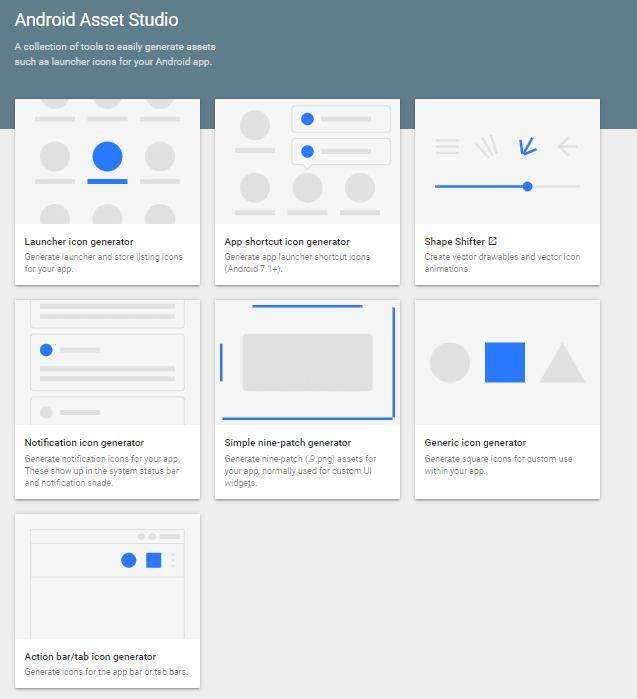 Android Asset Studio Development  Tool