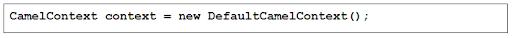 Default Context Camel Class
