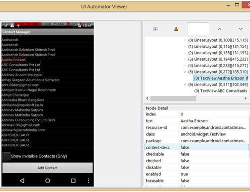 UI AutomatorViewer