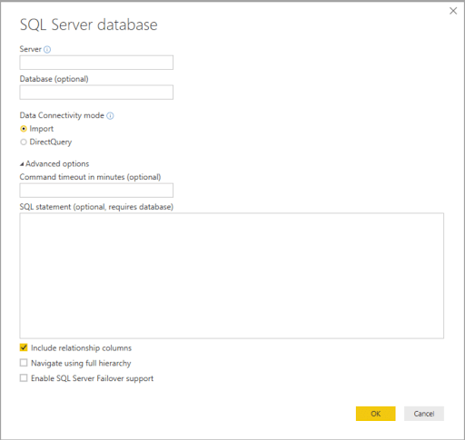 Authorization Access Power BI Desktop