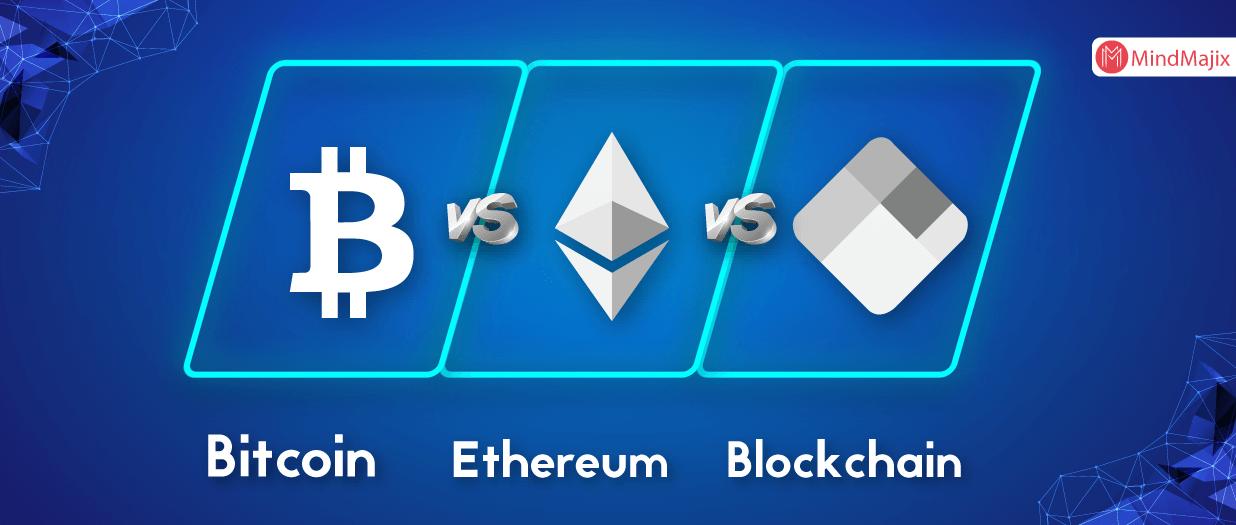 Bitcoin vs Ethereum vs Blockchain