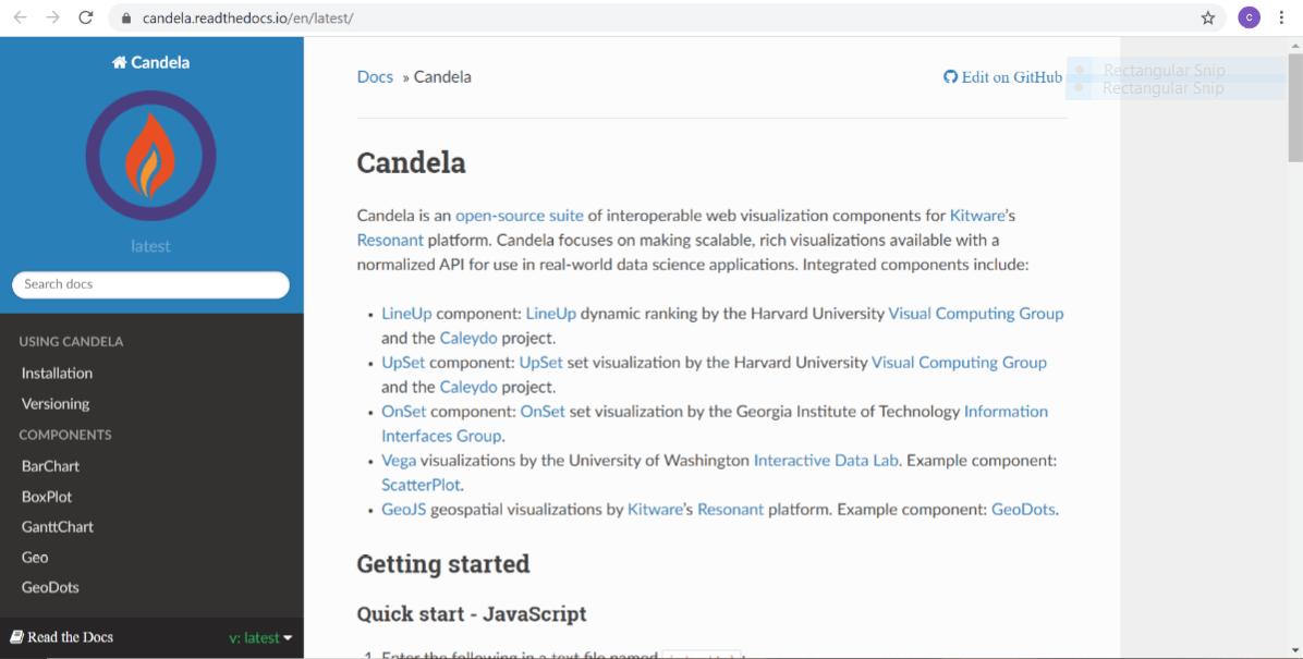 Candela Free Data Visualisation Tool