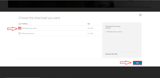 Power BI Desktop Download CheckList