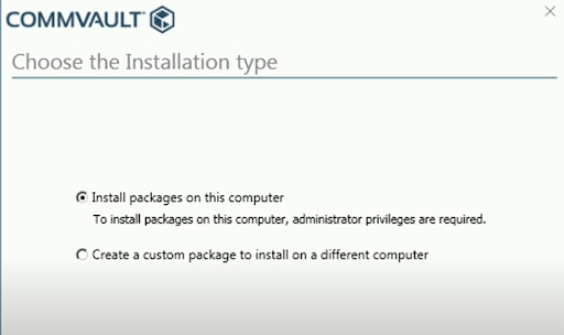 Choose The Installation Type