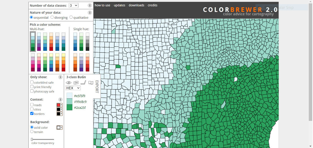 colorbrewer free data visualization tool