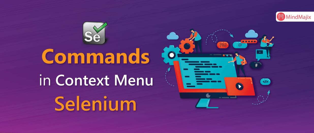 Commands in Context Menu - Selenium