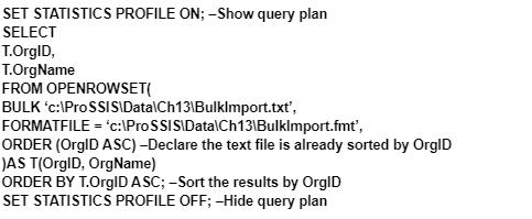 show query plan