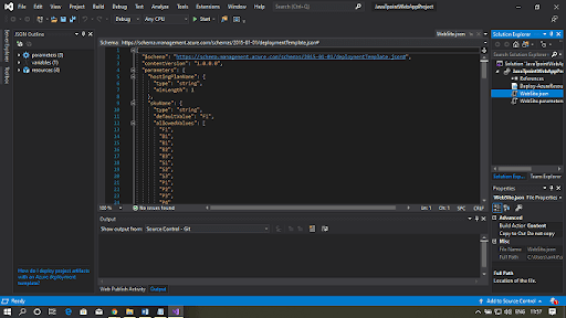 visual studio new project tab