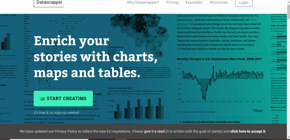 datawrappwer free data visualization tool