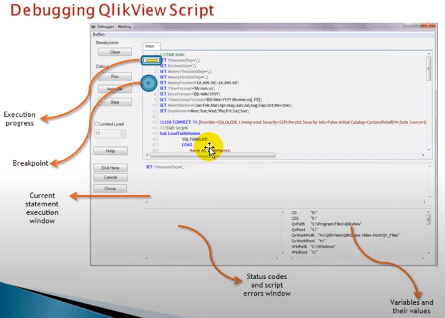 How Debugging works in QlikView Script Debugger - Working of Debug tool