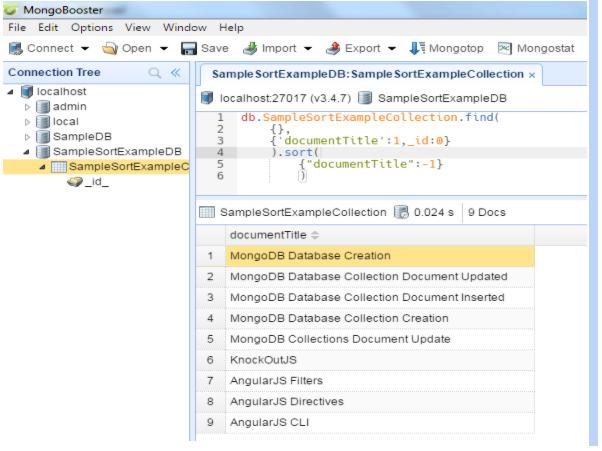 MongoDB Sorting