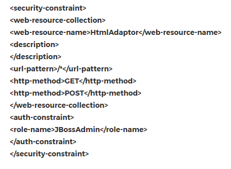Jboss security constraints