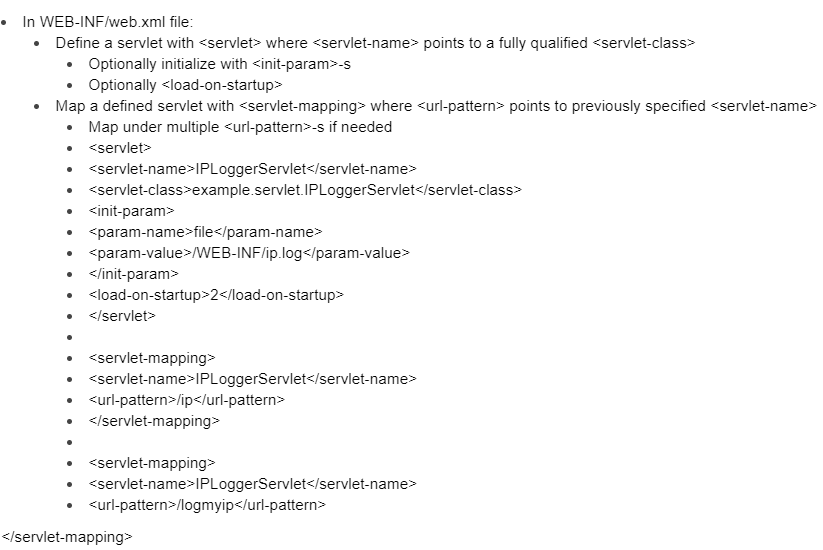 Defining and Mapping Servlets