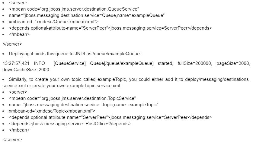 JMS Configuration