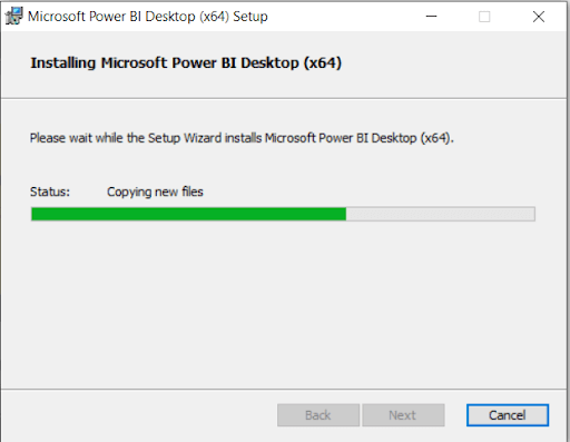 Power BI Download Installation Status