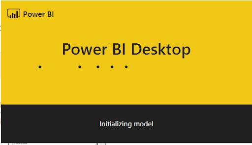 Power BI Desktop Download  Initializing