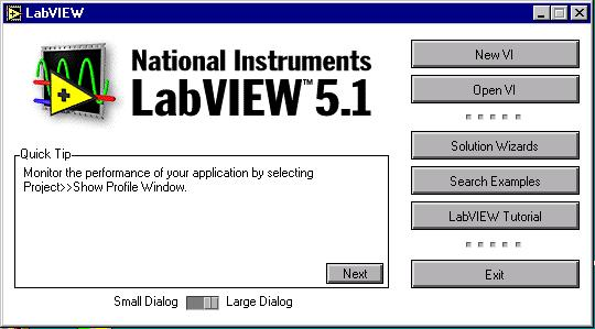 LabVIEW start button