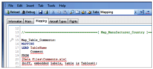 How Debugging works in QlikView Script Debugger - Syntax Check