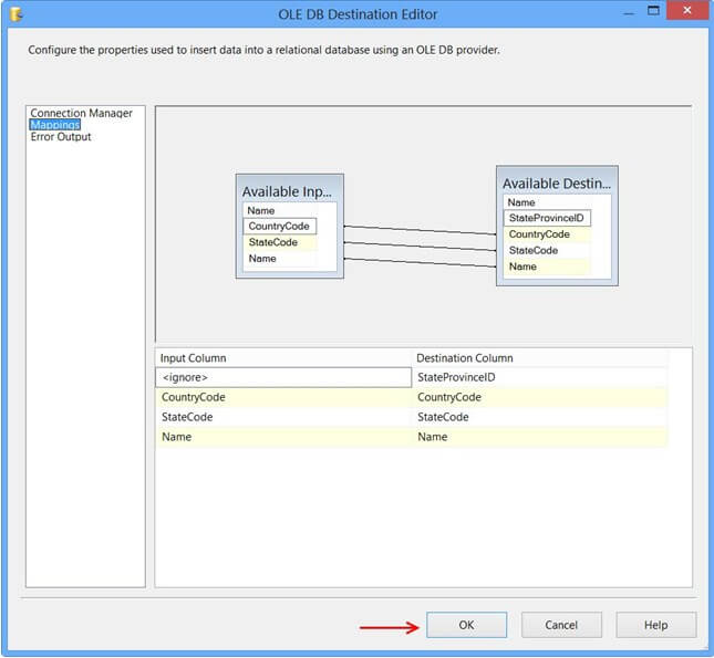 Mappings in destination