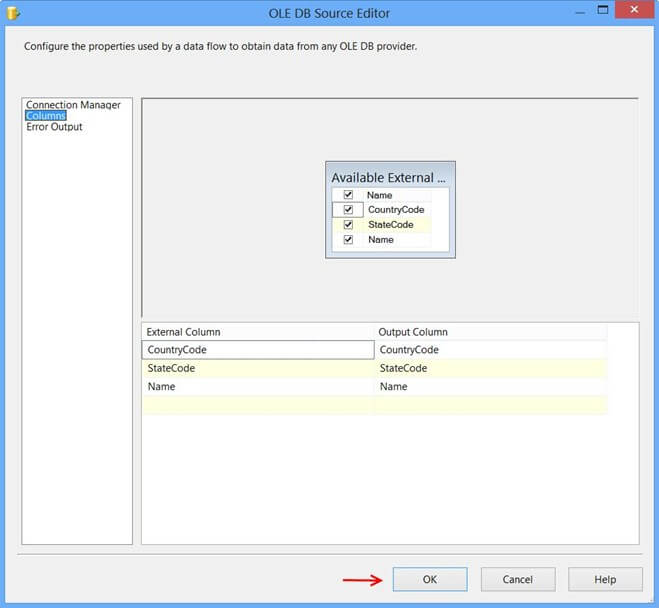 OLE DB Source Editor1